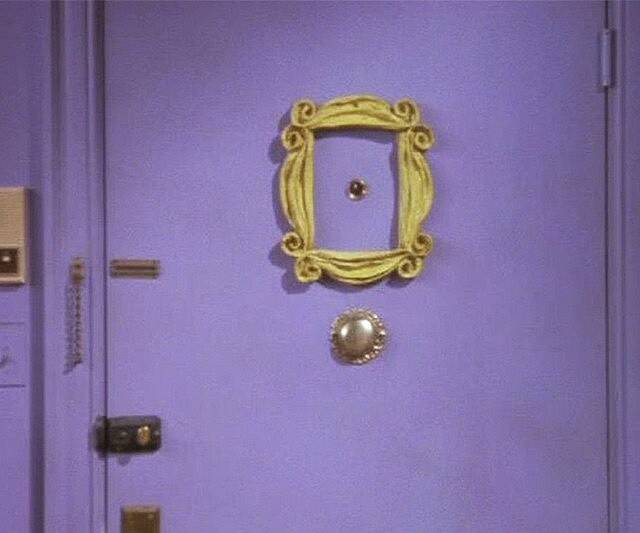 Friends Yellow Peephole Frame Replica - coolthings.us