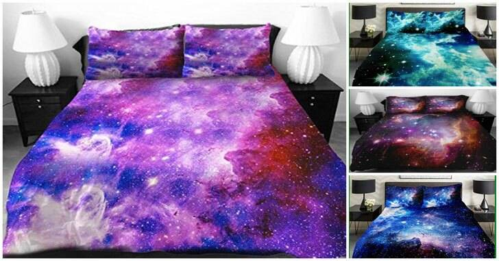 Purple Galaxy Bed Covers - http://coolthings.us