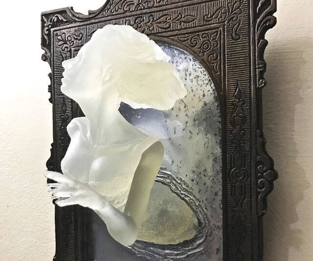 Ghost In The Mirror Wall Plaque - coolthings.us