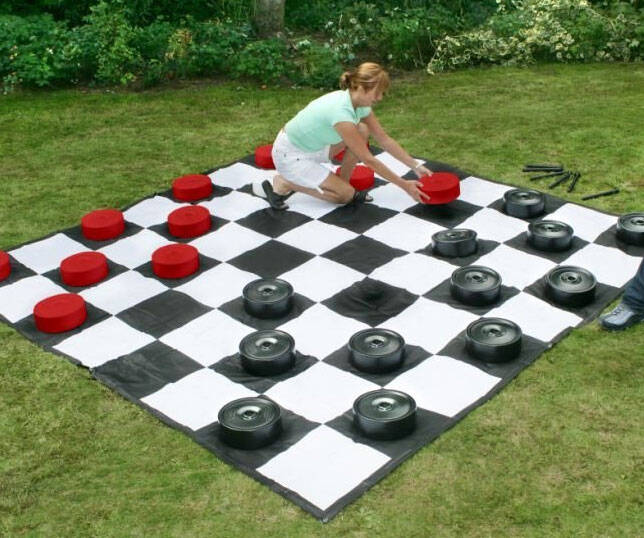Giant Checkers Game Mat - http://coolthings.us