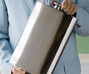 1 Gallon Stainless Steel Flask - http://coolthings.us