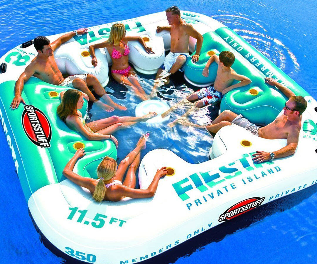 Giant Inflatable Lounger - http://coolthings.us
