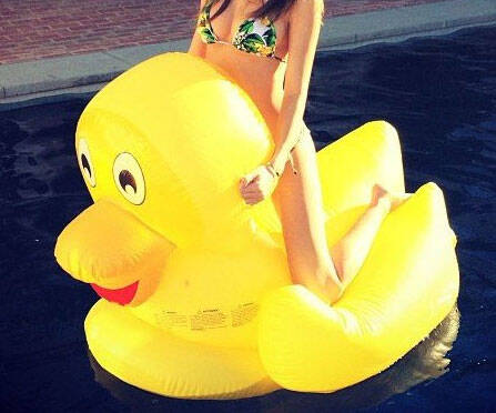 Giant Rubber Duck Pool Float
