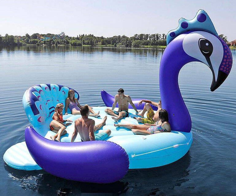 Giant Six Person Inflatable Peacock Float