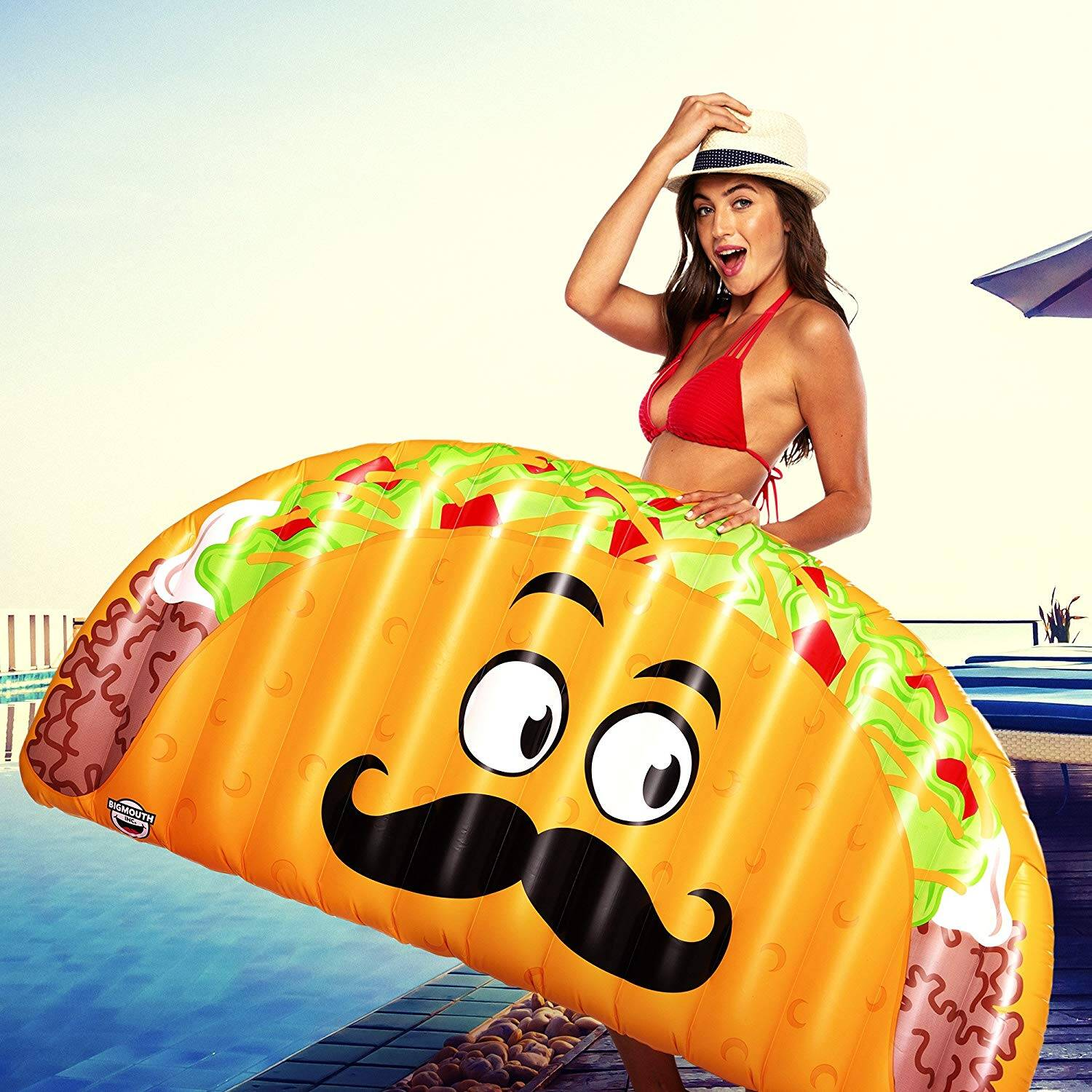 Giant Taco Pool Float - http://coolthings.us