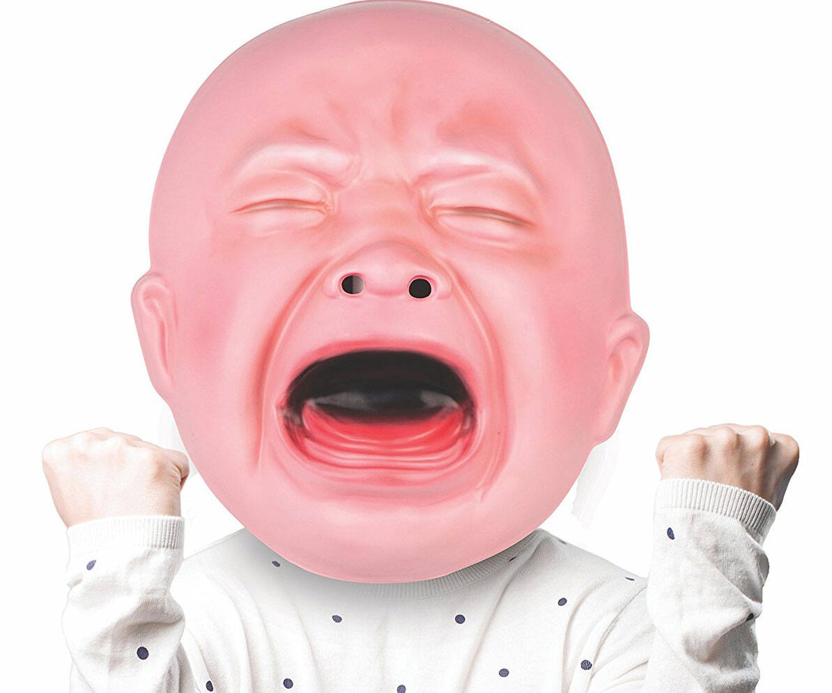 Gigantic Crying Baby Mask - http://coolthings.us