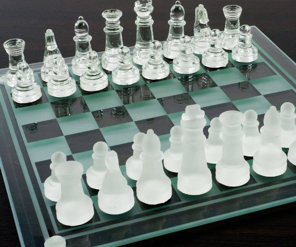 Glass Chess Board - http://coolthings.us