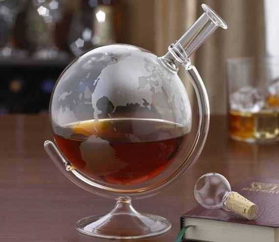 Glass Globe Decanter - http://coolthings.us