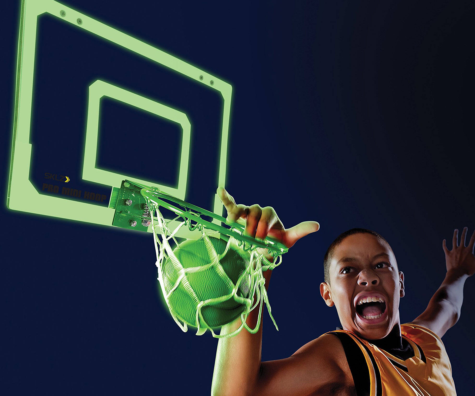 Glow In The Dark Indoor Basketball Hoop - http://coolthings.us
