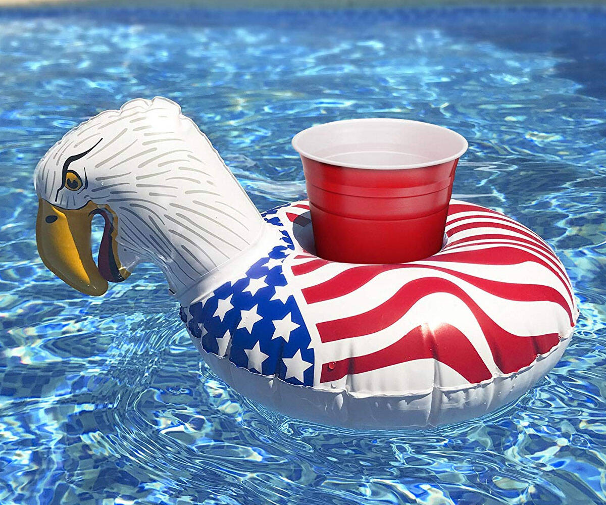 Inflatable Floating Drink Holders - http://coolthings.us