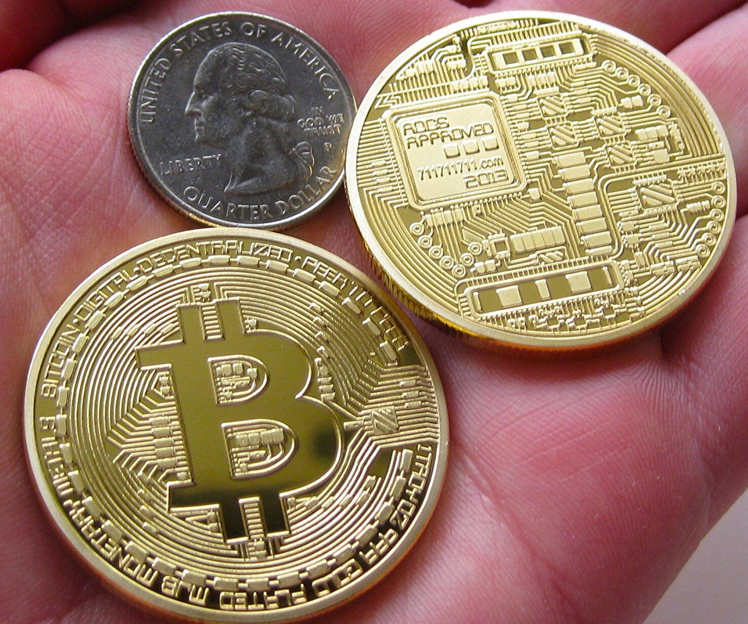 Gold Plated Bitcoins - http://coolthings.us