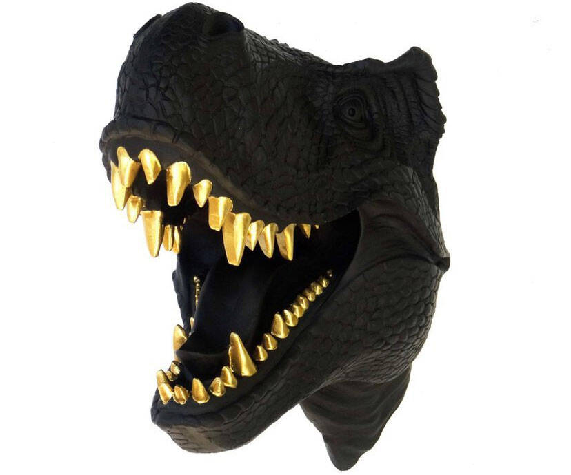 Gold Teeth T-Rex Bust - http://coolthings.us