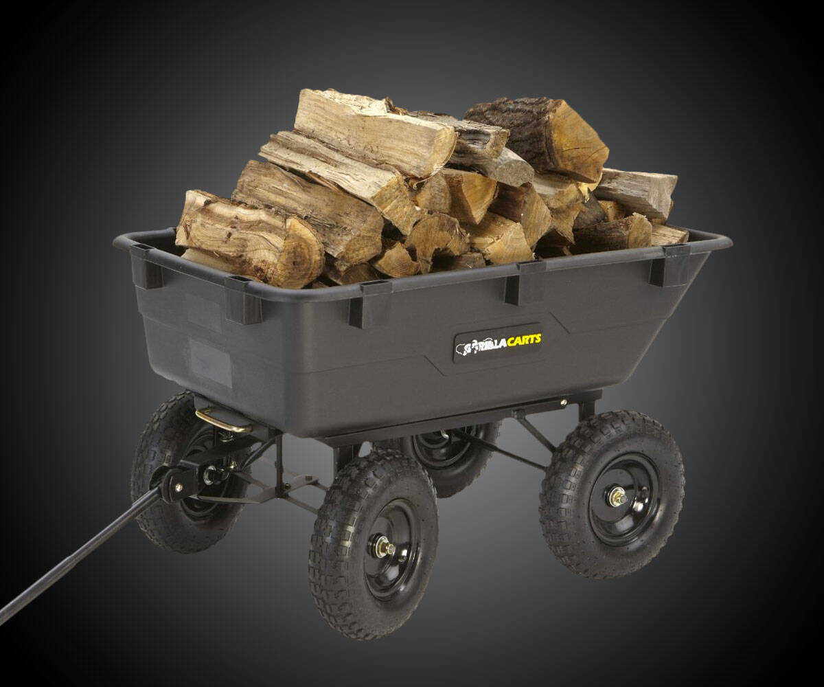 Gorilla Carts Heavy-Duty Dump Cart - http://coolthings.us
