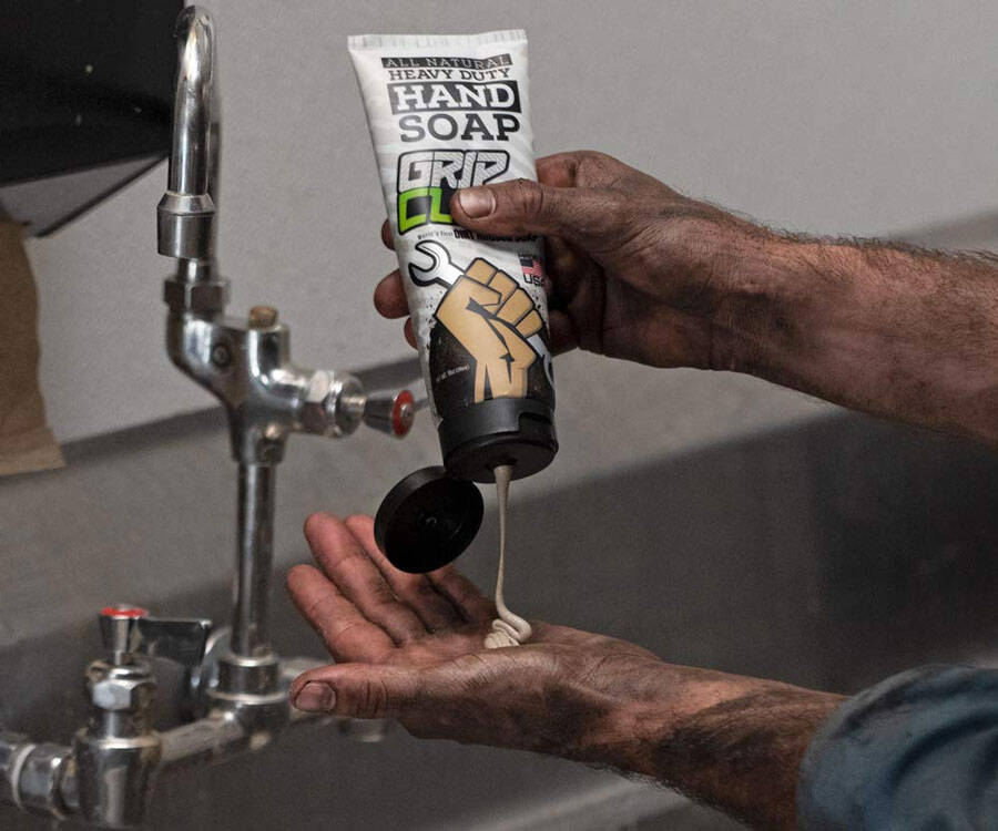 Grip Clean Dirt-Infused Heavy Duty Hand Soap - http://coolthings.us