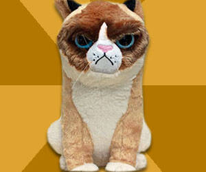 Grumpy Cat Plushie - http://coolthings.us