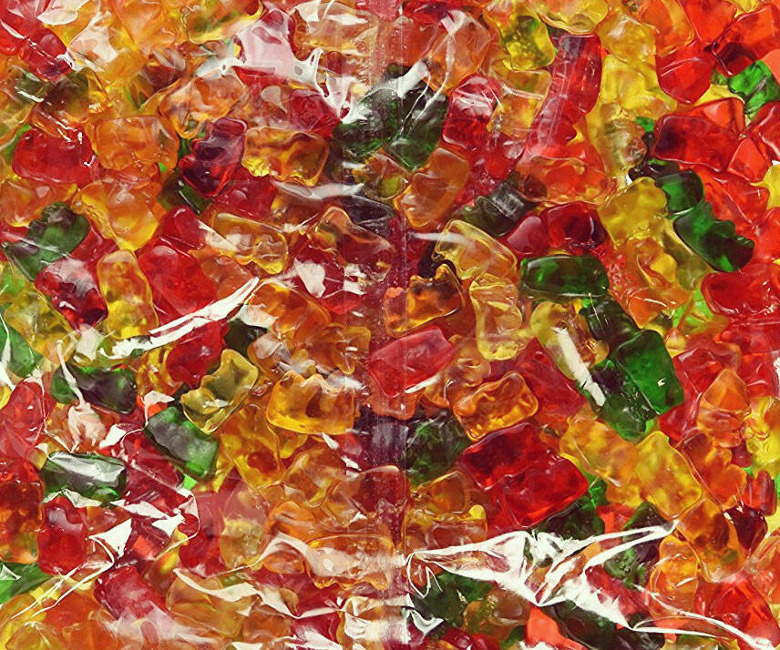 5 Pound Gummi Bear Bag - http://coolthings.us
