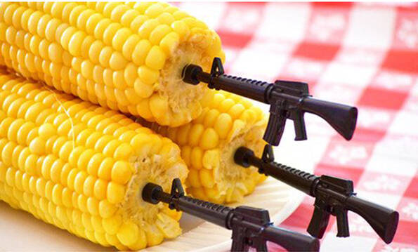 Gun Corn Holders - http://coolthings.us