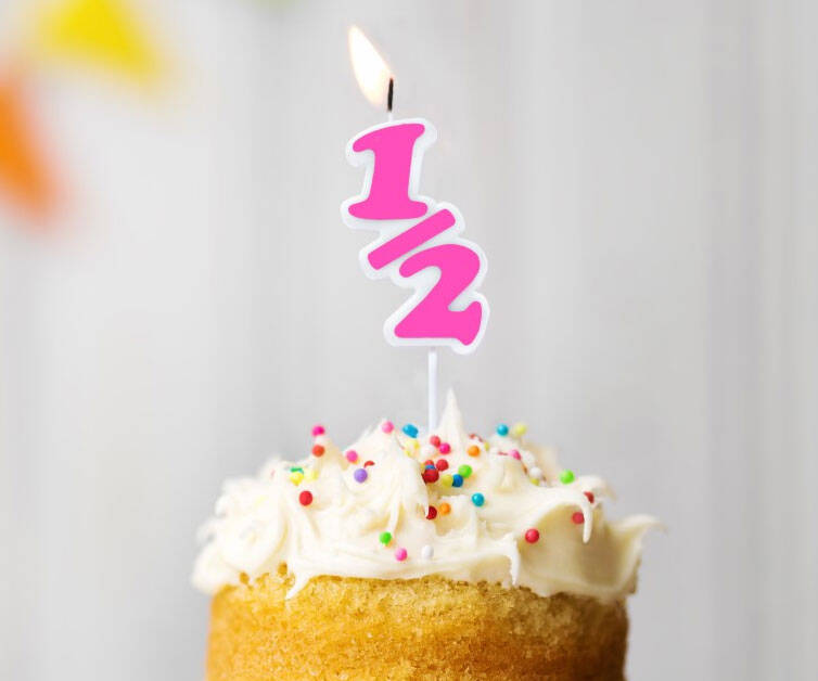Half Birthday Candle - http://coolthings.us