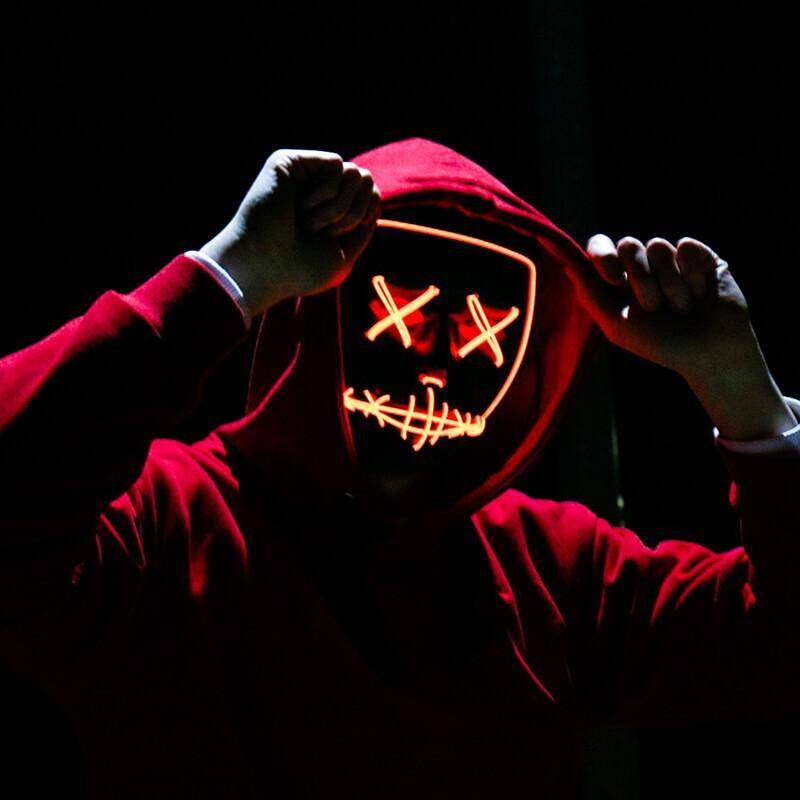 Halloween LED Light Up Mask - http://coolthings.us