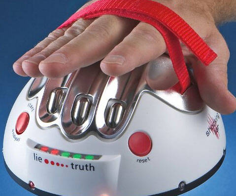 Hand Shocking Lie Detector - http://coolthings.us