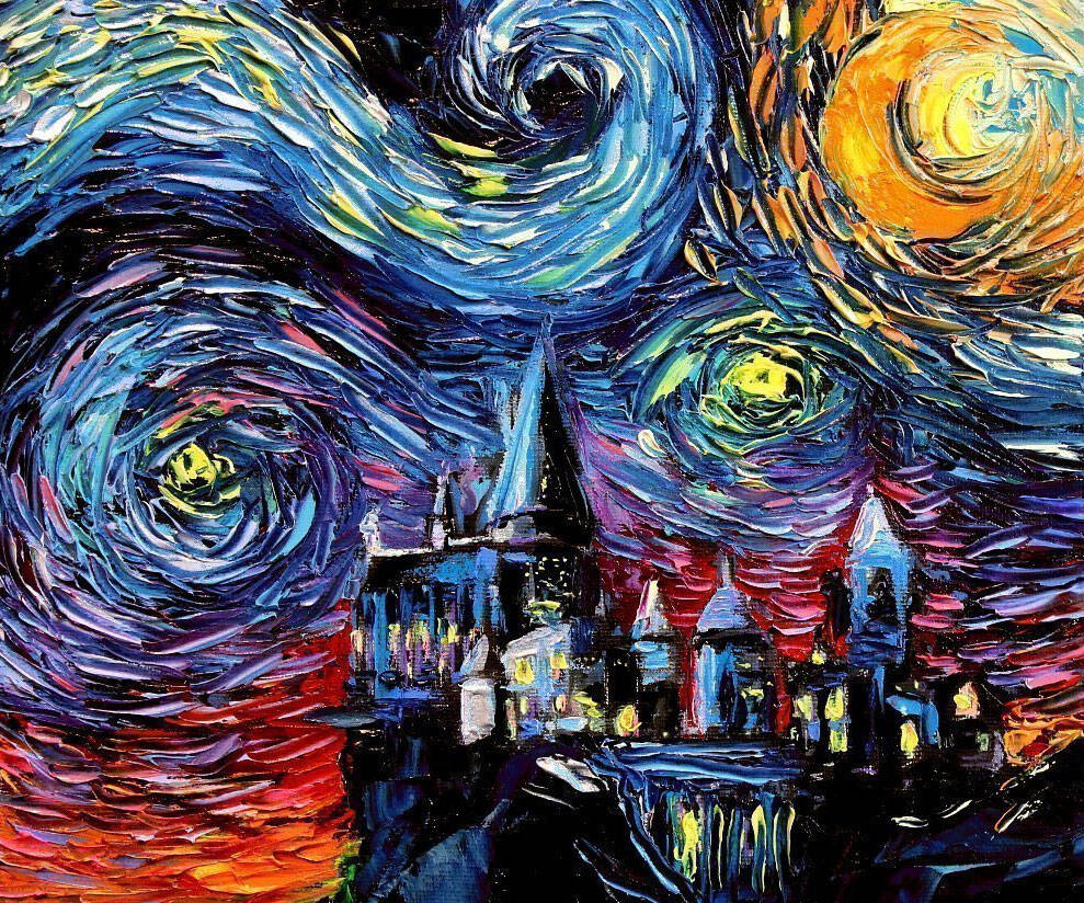 Starry Night Harry Potter Hogwarts - http://coolthings.us