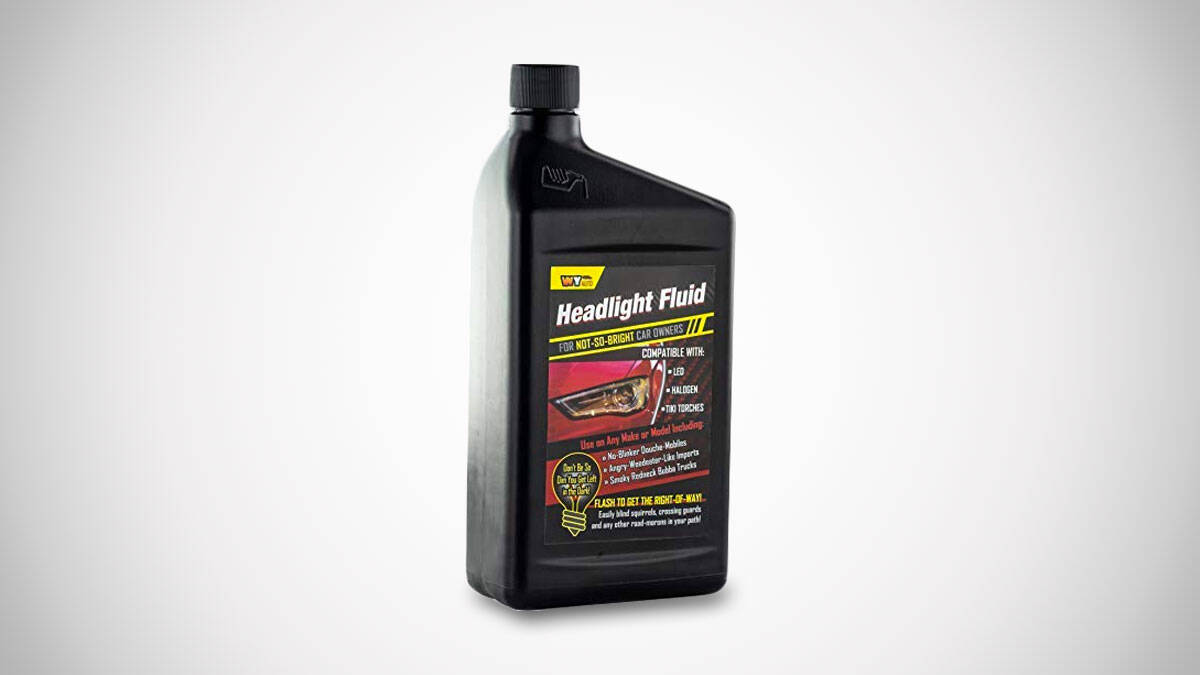 Headlight Fluid - http://coolthings.us