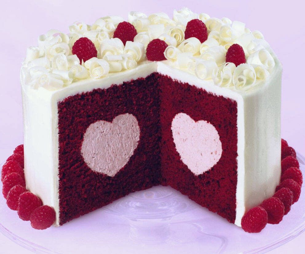 Heart Filled Cake Pan Set - http://coolthings.us