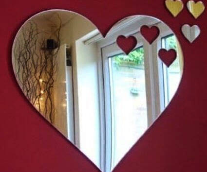 Heart Shaped Mirror - http://coolthings.us