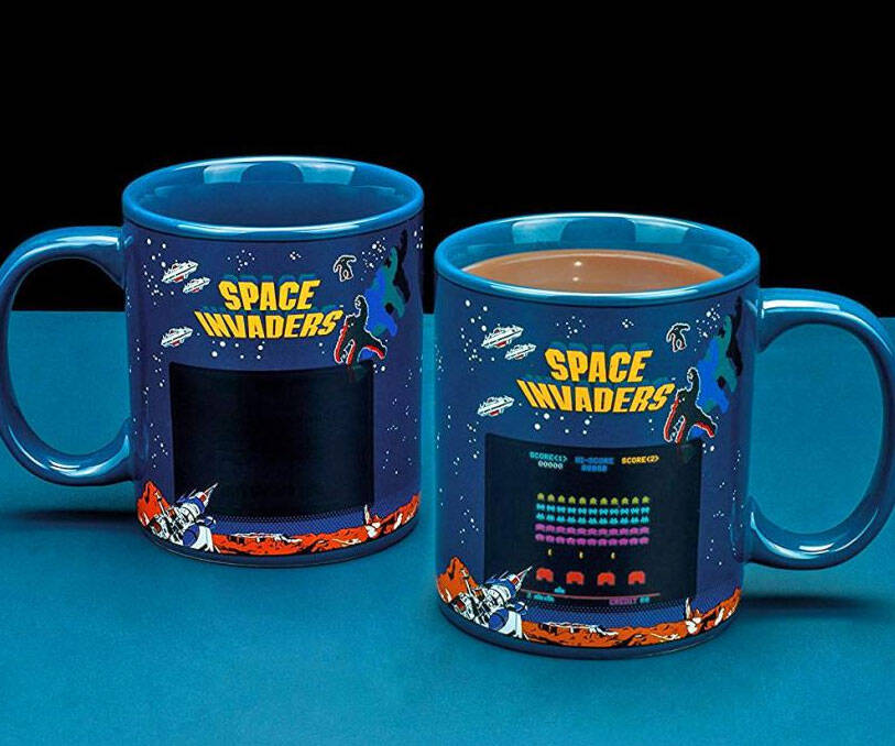 Heat Reactive Space Invaders Coffee Mug - coolthings.us