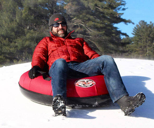 Heavy-Duty Inflatable Snow Tube - coolthings.us