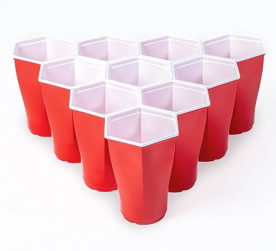 Hexagon Beer Pong Cups - http://coolthings.us