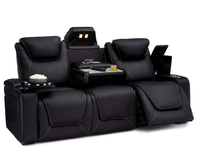 Home Theater Leather Sofa - http://coolthings.us