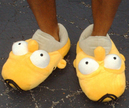 Homer Simpson Slippers - coolthings.us