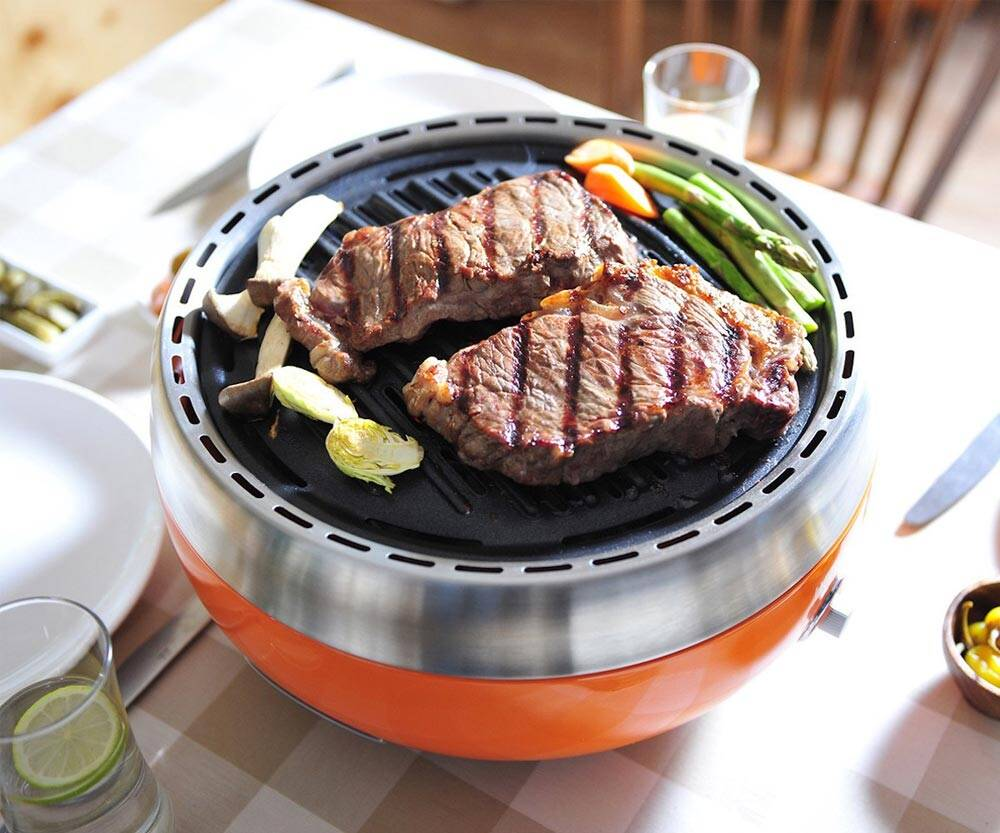 Homping Portable Charcoal Grill - http://coolthings.us
