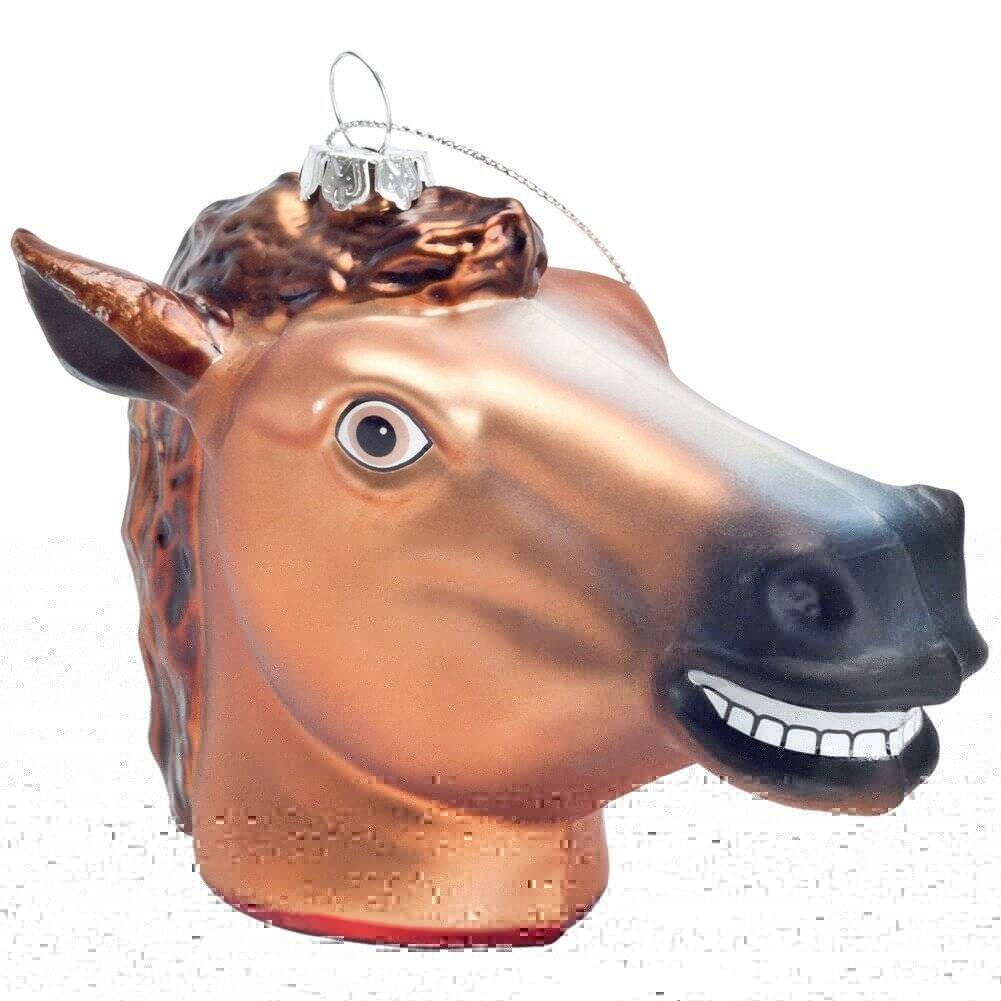 Horsehead Christmas Tree Ornament - http://coolthings.us