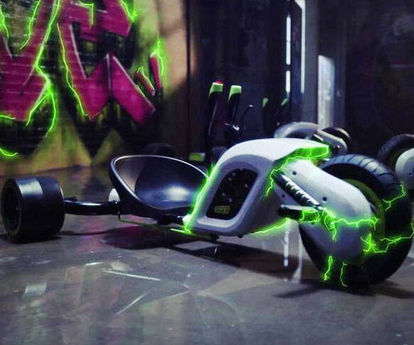 Huffy Electric Drifting Green Machine - http://coolthings.us