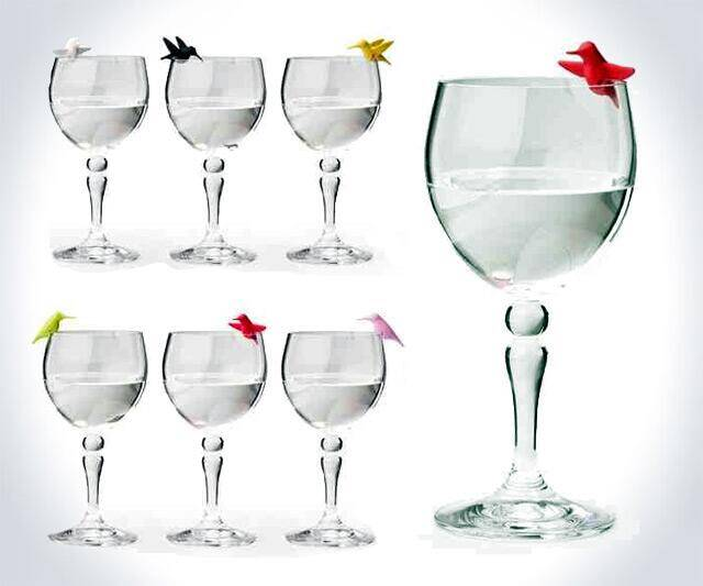 Hummingbird Wine Glass Charms - coolthings.us