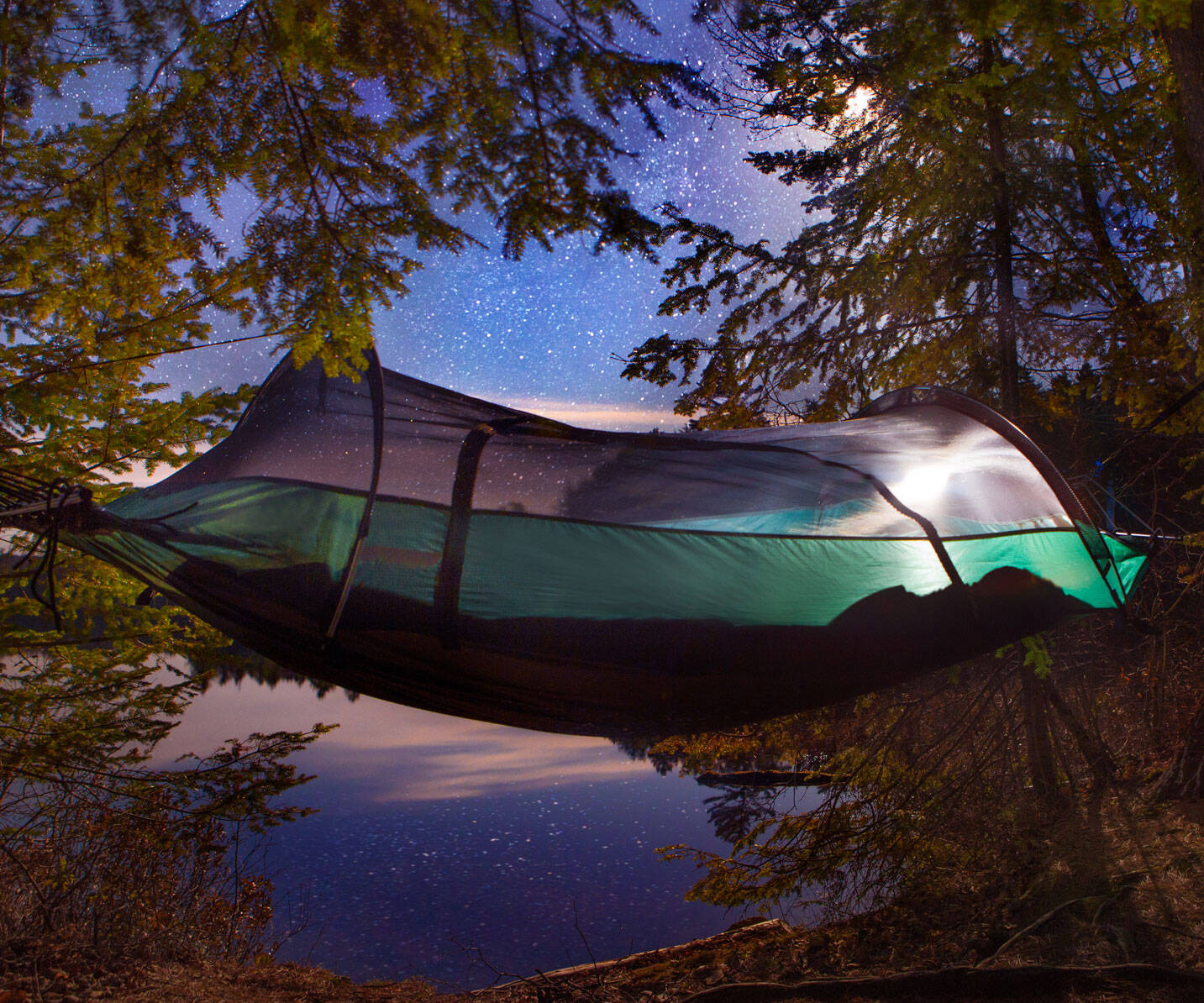 Hybrid Tent Hammock - http://coolthings.us
