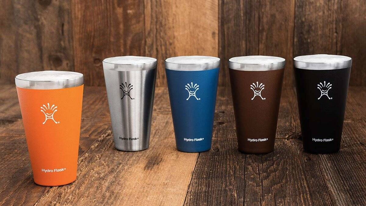 Hydro Flask Vacuum Insulated True Pints - http://coolthings.us