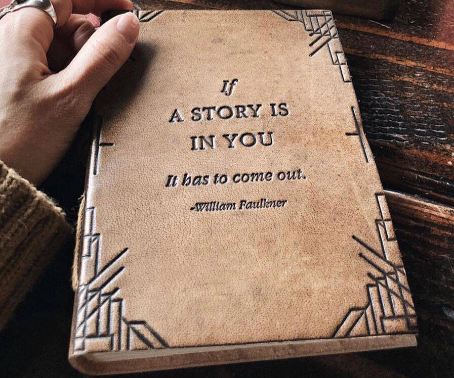 If A Story Is In You Leather Journal - http://coolthings.us