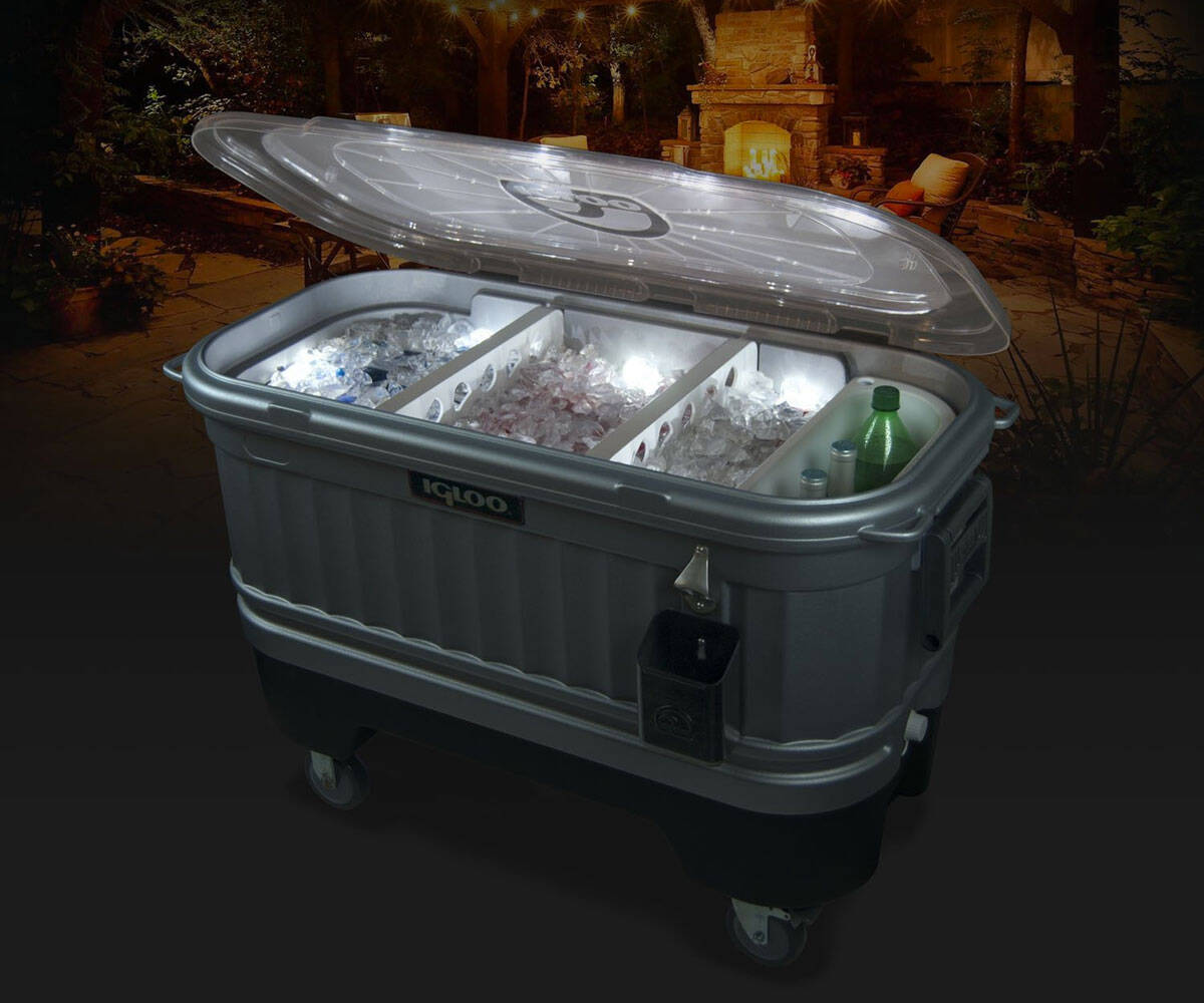 Igloo Party Bar Cooler with LiddUp Lighting - coolthings.us
