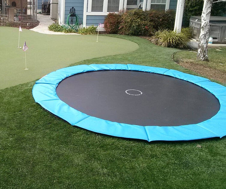 In-Ground Trampoline Kit - http://coolthings.us