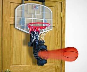 Indoor Basketball Returning Hoop - http://coolthings.us