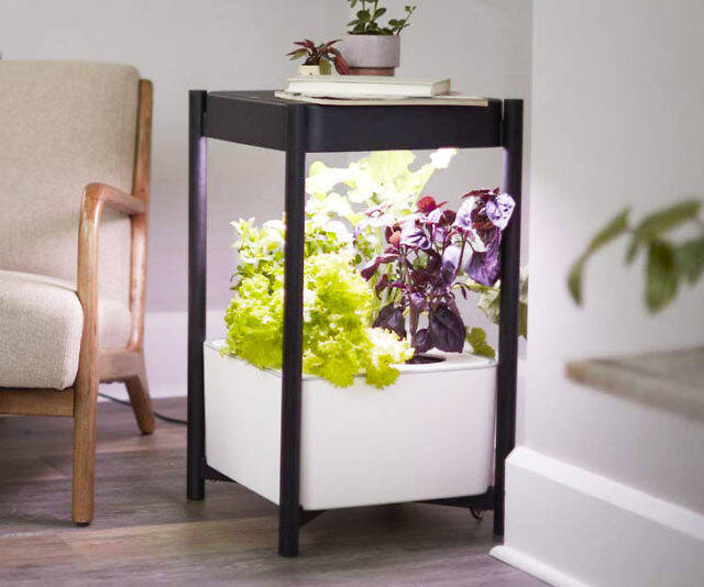 Indoor Hydroponic Garden Side Table - http://coolthings.us