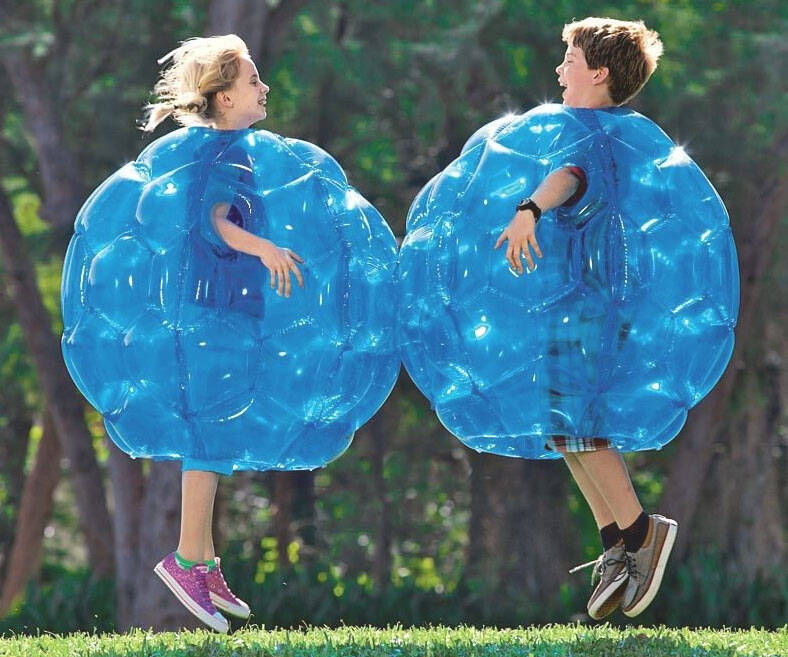 Inflatable Bumper Balls - http://coolthings.us
