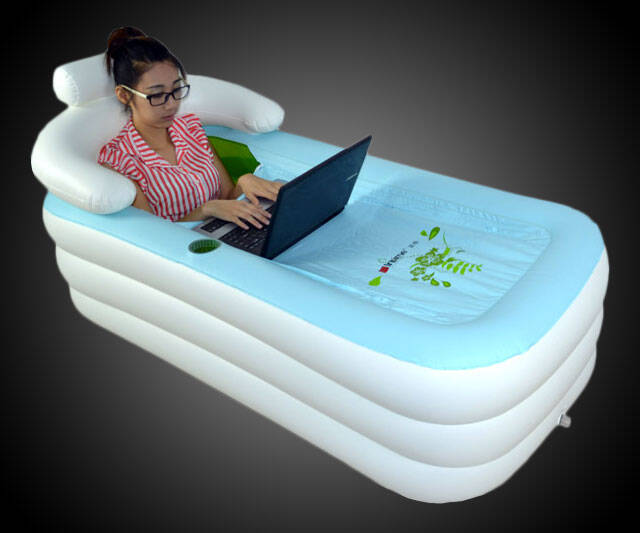 Inflatable Floating Bathtub - http://coolthings.us