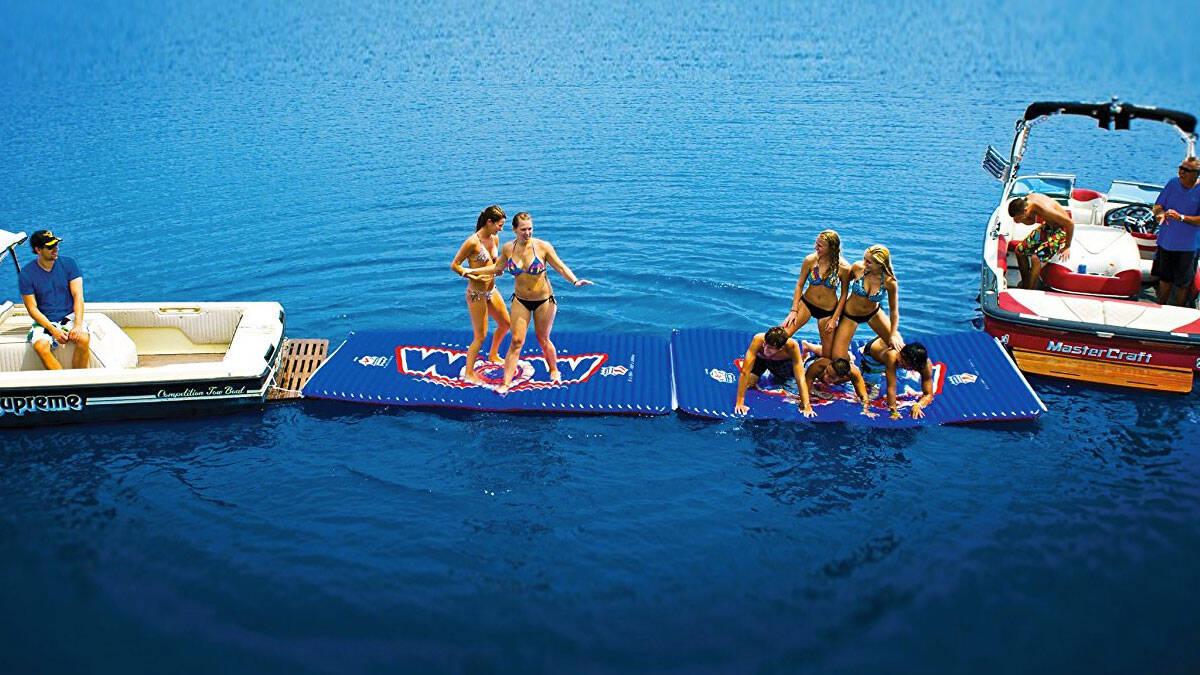 Inflatable Floating Water Walkway - http://coolthings.us