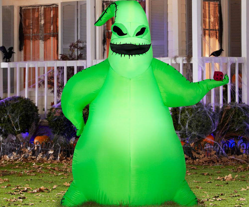 Inflatable Green Oogie Boogie - http://coolthings.us