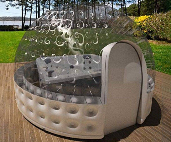 Inflatable Hot Tub Spa Solar Dome - coolthings.us