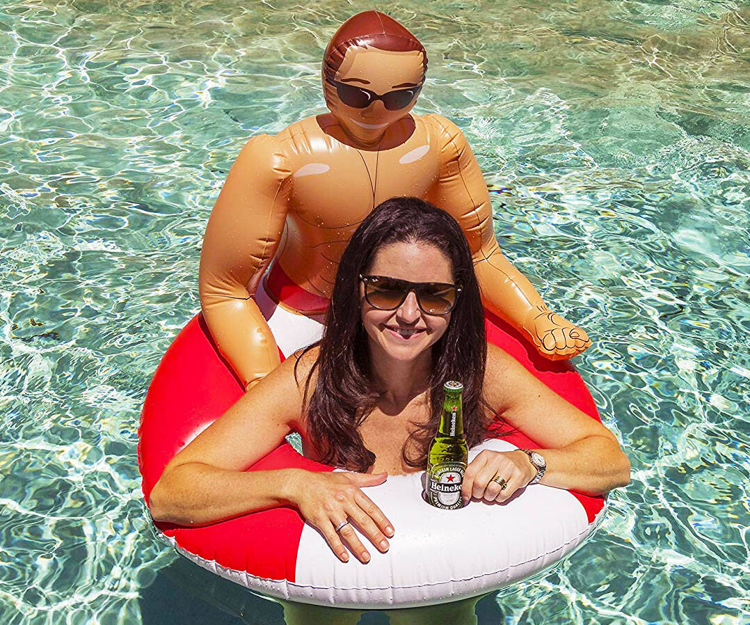 Inflatable Hunk Pool Float - http://coolthings.us